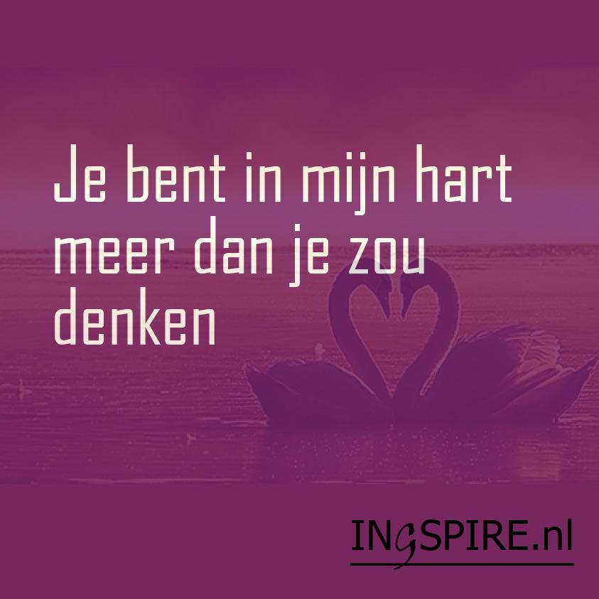 spirituele spreuken over liefde Spreuk liefde Je bent in mijn hart meer dan je zou denken   Hét  spirituele spreuken over liefde