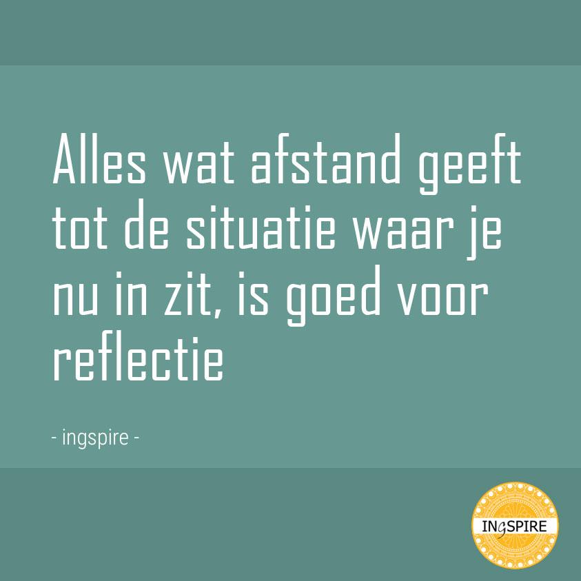Perspectief Reflectie quote - inspirerend leven