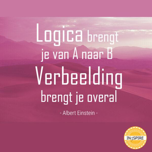 Citaat: Logica brengt je van A naar B, verbeelding brengt je overal.