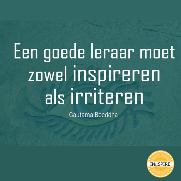 Wijsheid van Boeddha: Een goed leraar moet zowel inspireren als irriteren