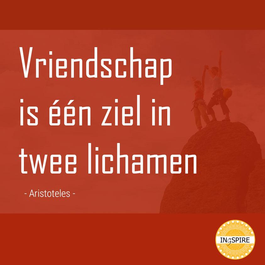 Citaat Aristoteles: Vriendschap is één ziel in twee lichamen