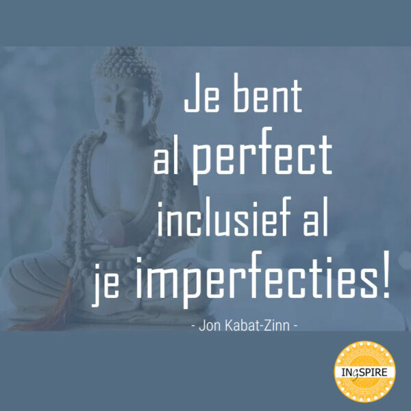Citaat Jon Kabat-Zinn: Je bent al perfect inclusief al je imperfecties